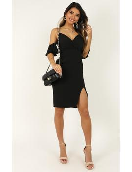 When I Fall In Love Dress In Black by Showpo Fashion