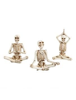 Yoga Skeleton Decor Set Of 3 by World Market