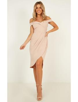 Thank You Next Midi Dress In Nude by Showpo Fashion