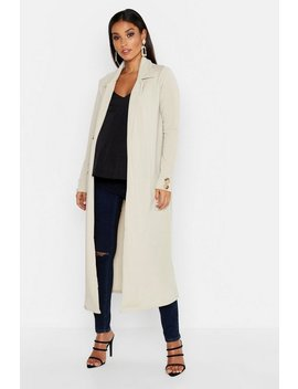 Maternity Longline Button Detail Duster by Boohoo
