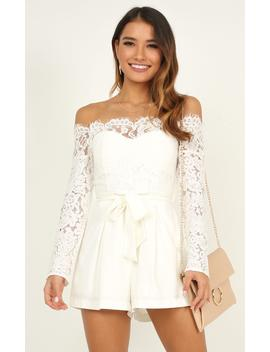 Since Youve Been Gone Playsuit In White by Showpo Fashion