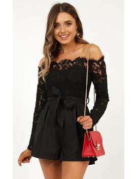 Since Youve Been Gone Playsuit In Black by Showpo Fashion