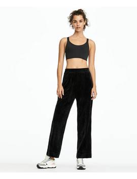 Μαύρο παντελόνι από βελούδο by Oysho