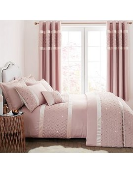 Catherine Lansfield Sequin Cluster Blush Duvet Cover And Pillowcase Set by Dunelm
