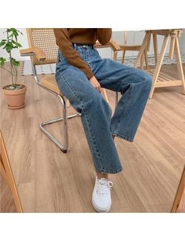 Merongshop   Washed Wide Leg Jeans by Merongshop