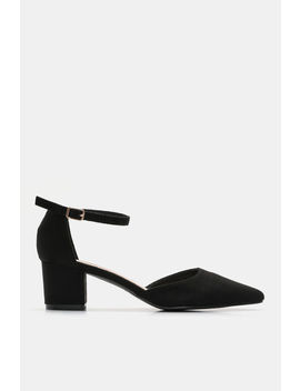 Faux Suede Block Heel Pumps by Ardene