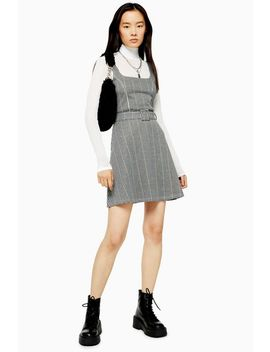 Belted Pinafore Dress by Topshop