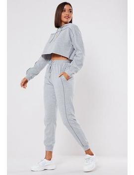 Grey Co Ord Reflective Stripe Joggers by Missguided