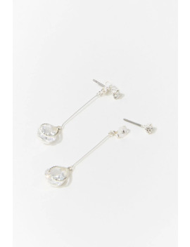 Cz Stone Drop Earrings by Forever 21