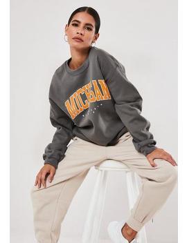 Grey Michigan Graphic Sweatshirt by Missguided