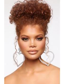 Love You 5 Ever Earrings   Silver by Fashion Nova