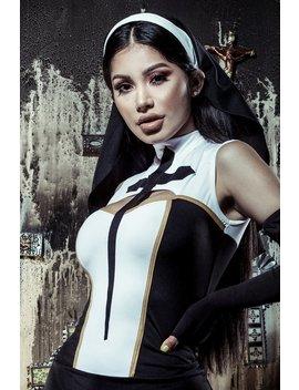 Praying For You Nun Headband   Black by Fashion Nova