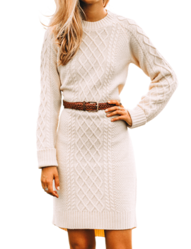 Autumn Knit Sweater Dress by Kiel James Patrick