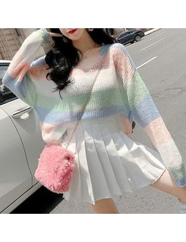 Isaaca   Color Block Sweater by Isaaca