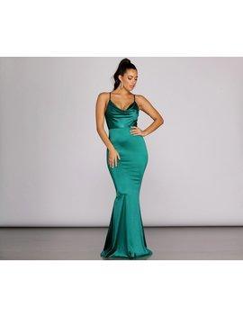 Diane Formal Satin Sleeveless Dress by Windsor