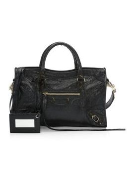 Small Eartha Leather Top Handle Bag by Zac Zac Posen