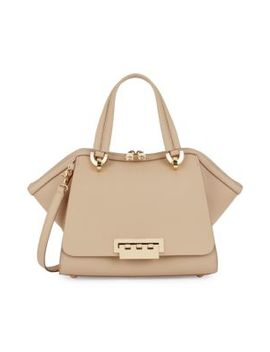 Small Eartha Zip Leather Satchel by Zac Zac Posen