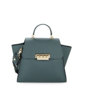 Small Eartha Leather Tote Satchel by Zac Zac Posen