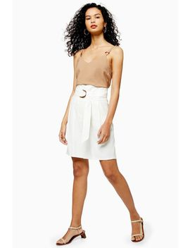 Ivory Belted City Shorts by Topshop