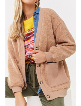 Ribbed Faux Shearling Cardigan by Forever 21