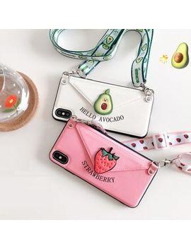 Ce Lleague   Fruit Print Card Holder Mobile Case   I Phone Xs Max / Xs / Xr / X / 8 / 8 Plus / 7 / 7 Plus / 6 / 6ss / 6 Plus / 6s Plus by Ce Lleague