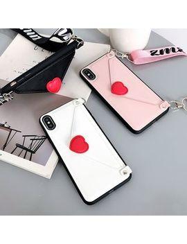 Casei Colour   3 D Heart Shape Card Holder Mobile Case   I Phone Xs Max, X/Xs, Xr, 8p/7p, 8/7, 6sp/6p, 6s/6 by Casei Colour