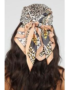 Animalistic Ways Head Scarf   Multi Color by Fashion Nova