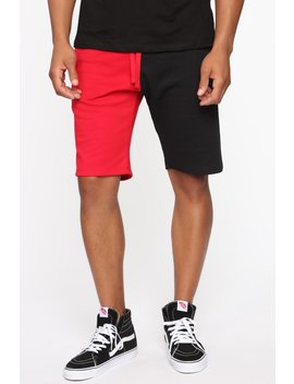Red Moment Short   Red/Black by Fashion Nova