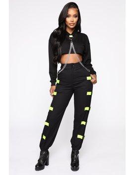 Total Baddie Pant Set   Black/Combo by Fashion Nova