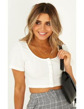 The Edge Top In White by Showpo Fashion