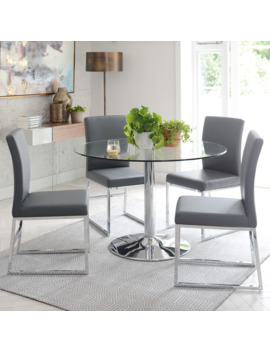 Palermo 2 3 Seater Dining Table Medium Clear by Dwell