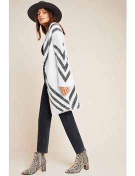 Valia Eyelash Cardigan by Anthropologie