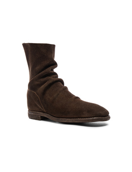 Calf Suede Boots by Guidi