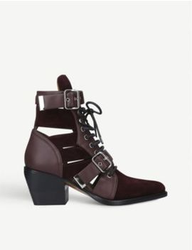 Rylee 60 Cut Out Leather And Suede Boots by Chloe