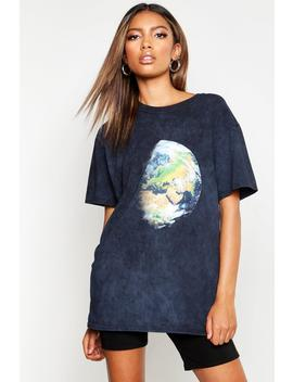 Washed Earth Print T Shirt by Boohoo