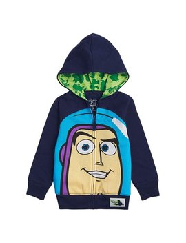 Toy Story Disney Big Face Zip Up Hoodies  Buzz Lightyear, Woody   Boys (Buzz Navy, 4 T) by Freeze