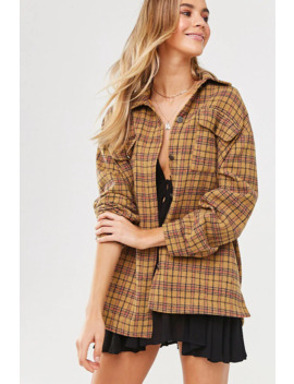 Plaid Flannel Jacket by Forever 21
