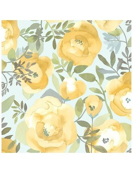 Peachy Keen Yellow Peel & Stick Wallpaper   Brewster by Brewster