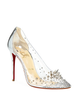Grotika Spiked Red Sole Pumps by Christian Louboutin