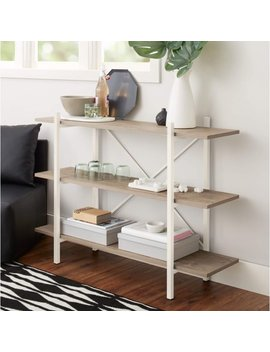 "Mainstays 34"" Conrad 3 Shelf Bookcase, White by Mainstays"