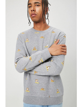 Dog Yoga Print Sweatshirt by Forever 21