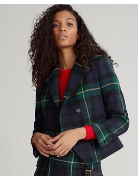 Tartan Wool Blend Blazer by Ralph Lauren