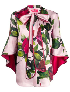 Pussy Bow Floral Blouse by F.R.S For Restless Sleepers