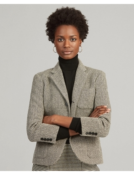 Herringbone Wool Blend Blazer by Ralph Lauren