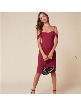 Reformation Rena Off The Shoulder Dress Cherry Size 4 (Originally $218) by Reformation