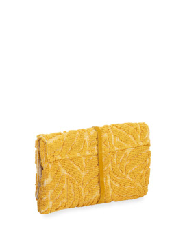 Barbara Tassel Fabric Clutch Bag, Yellow by Casa Isota