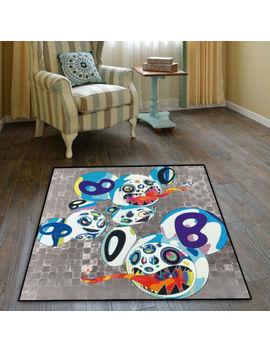 Takashi Murakami Cool Velboa Floor Rug Carpet Bedroom Doormat Non Slip Chair Mat by Takashi Murakami