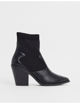Stradivarius Western Chelsea Boots In Black by Stradivarius