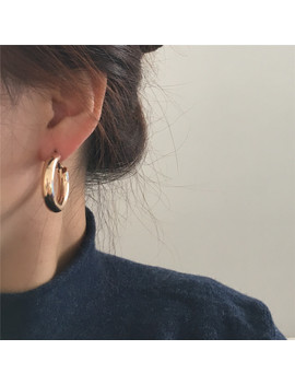 Casual Women Earrings Gold Color Plating 4 Mm Thickness Small Hoop Earrings For Women Girl by Ali Express.Com