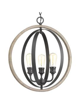 Conestee Collection 3 Light Graphite Pendant by Progress Lighting